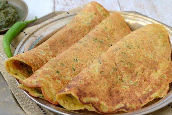 THE BESAN KA CHILLA spiced gram flour pancake